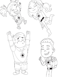 Sparks Crew Coloring Page