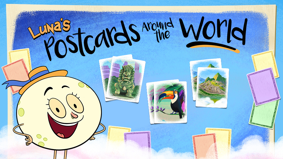 Luna's Postcards Around the World