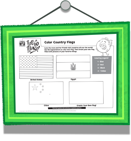 Color the Country Flags Coloring Page