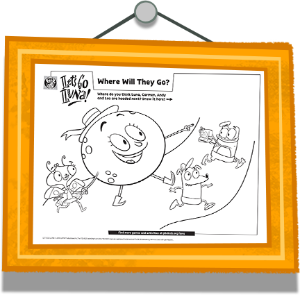Where Will They Go? Coloring Page
