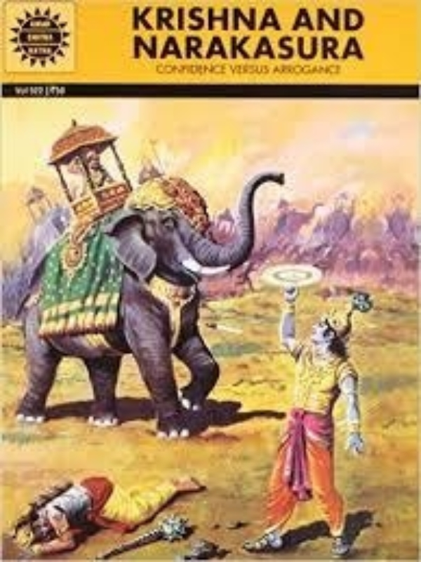 Krishna and Narakasura cover image