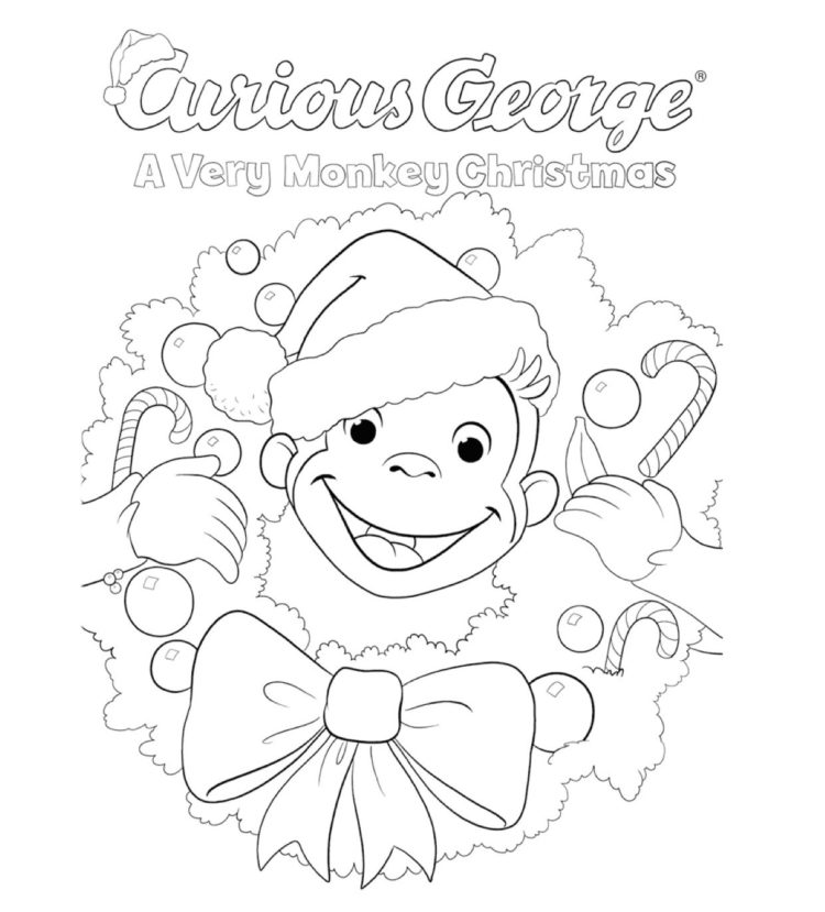 A Very Monkey Christmas Coloring Page Kids… PBS KIDS For Parents