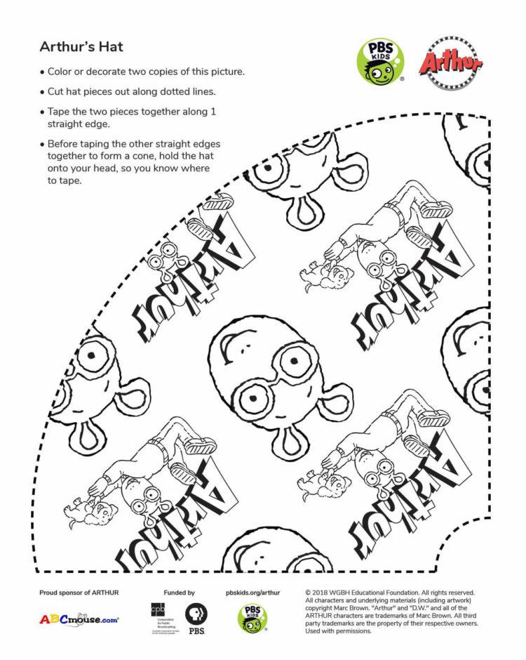 Arthur Party Hat | Kids Coloring Pages | PBS KIDS for Parents