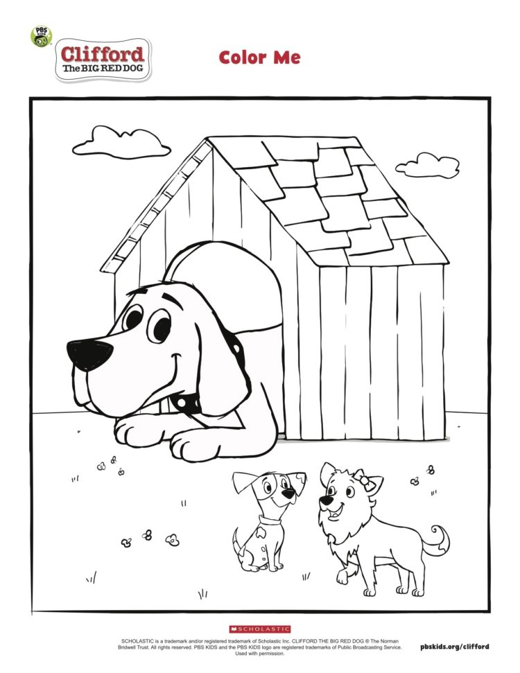 Clifford's Doghouse Coloring Page Kids… PBS KIDS For Parents