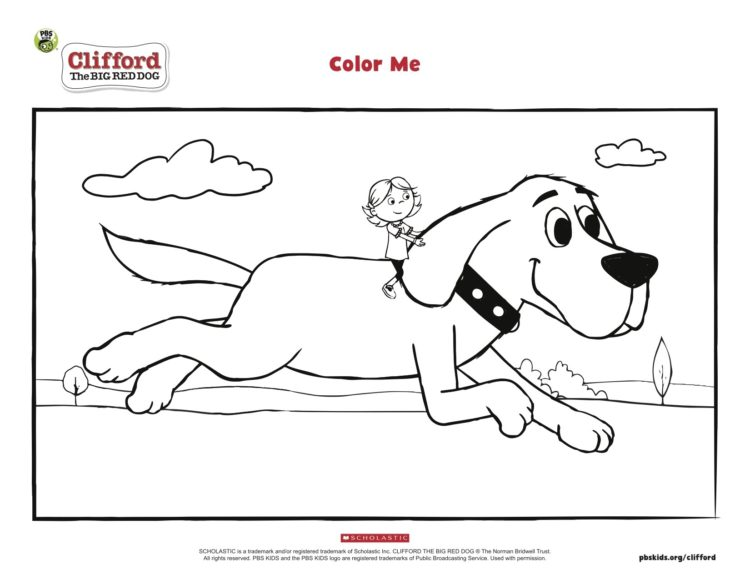 Clifford And Emily Elizabeth Coloring Page |… PBS KIDS For Parents