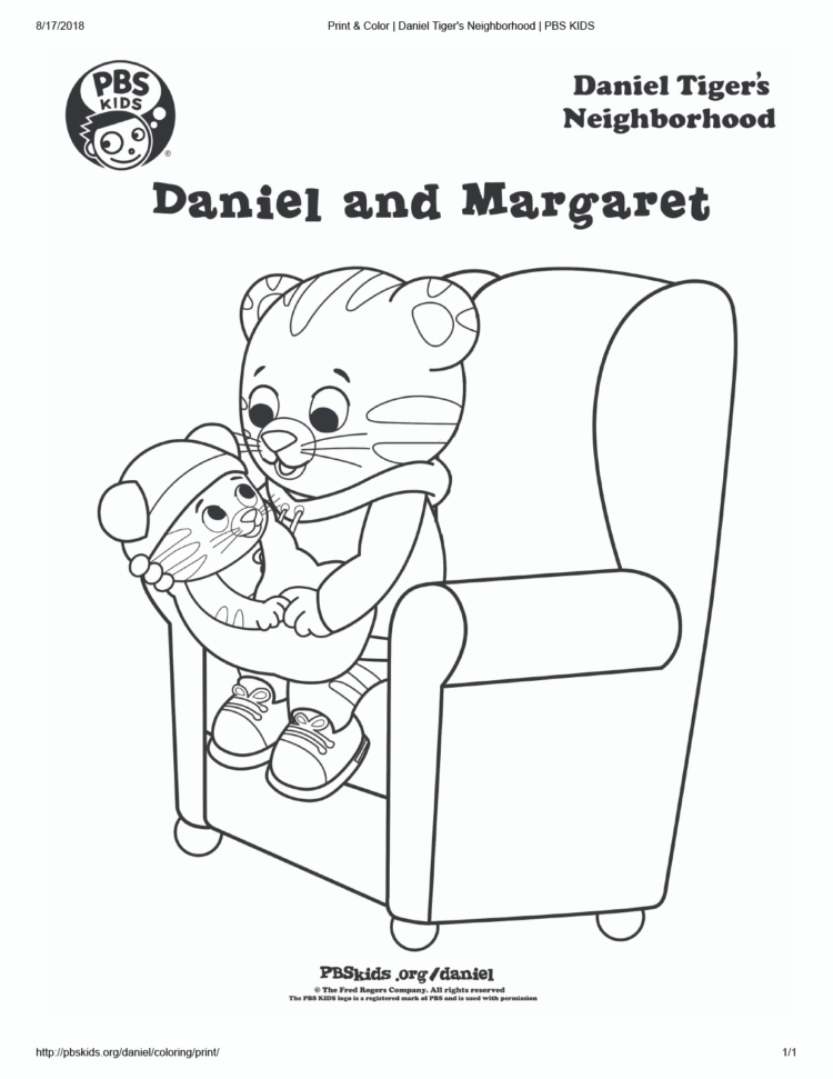 Daniel And Baby Margaret Coloring Page Kids… PBS KIDS For Parents