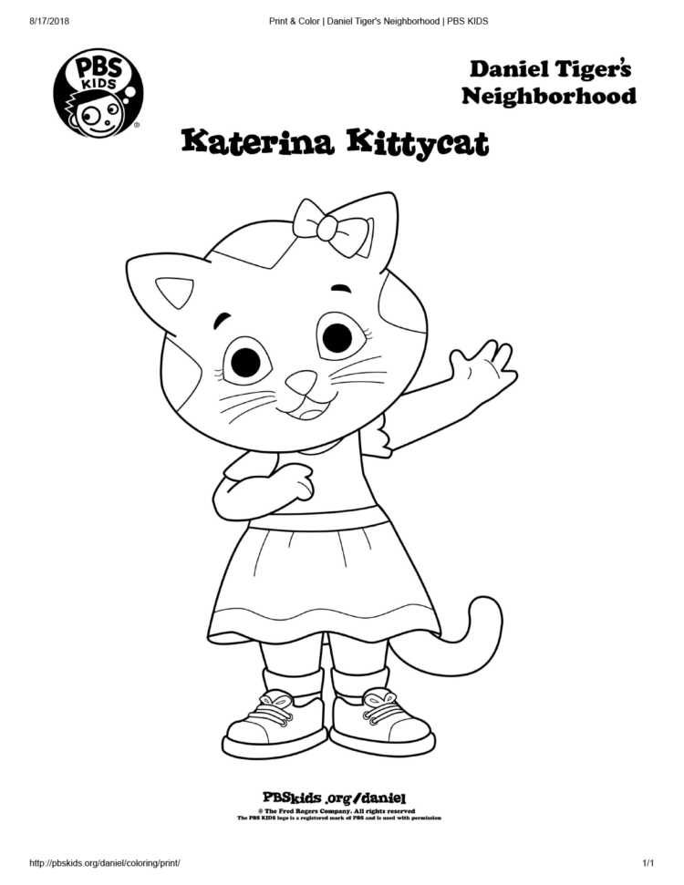 Katerina Kittycat Coloring Page Kids Coloring Pbs Kids For Parents