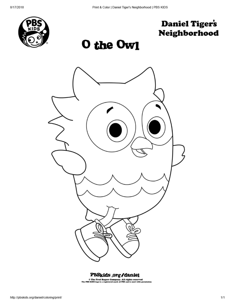 O The Owl Coloring Page Kids Coloring Pages Pbs Kids For