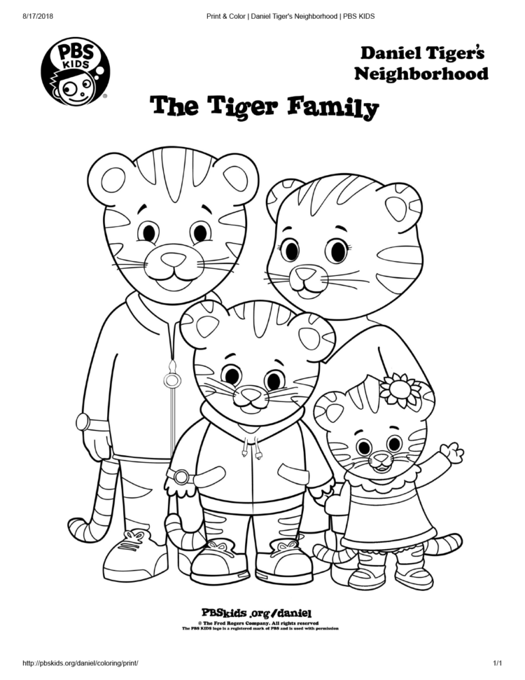 The Tiger Family Coloring Page Kids Coloring… PBS KIDS For Parents