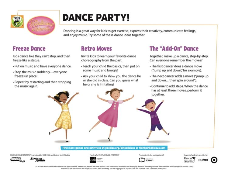 Dance Party Kids Coloring Pages Pbs Kids For Parents