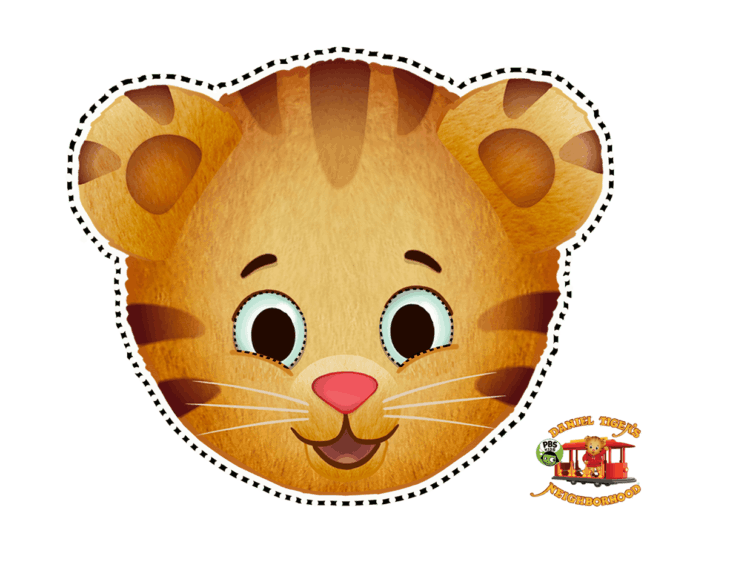picture relating to Printable Tiger Mask identified as Daniel Tiger Buddies Masks Youngsters Coloring PBS Children for