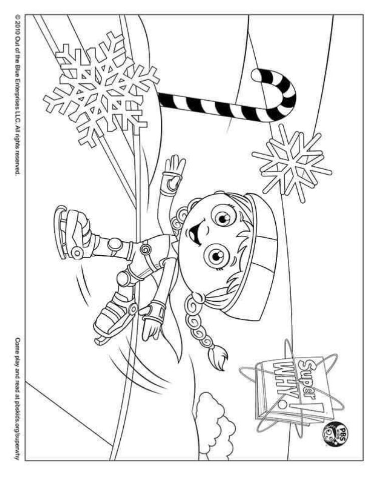 Wonder Red Ice Skating Kids Coloring Pages Pbs Kids For