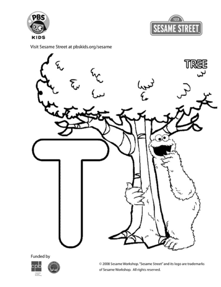 The Letter T Coloring Page Kids Coloring Pbs Kids For Parents