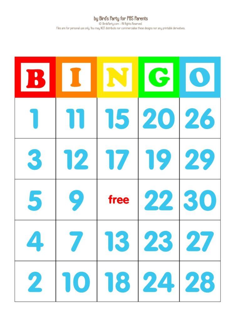 free printable bingo cards for kids