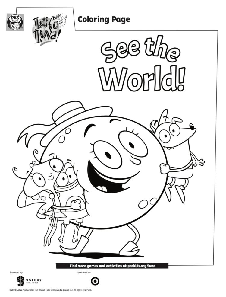 Luna And Friends Coloring Page Kids Coloring… PBS KIDS For Parents