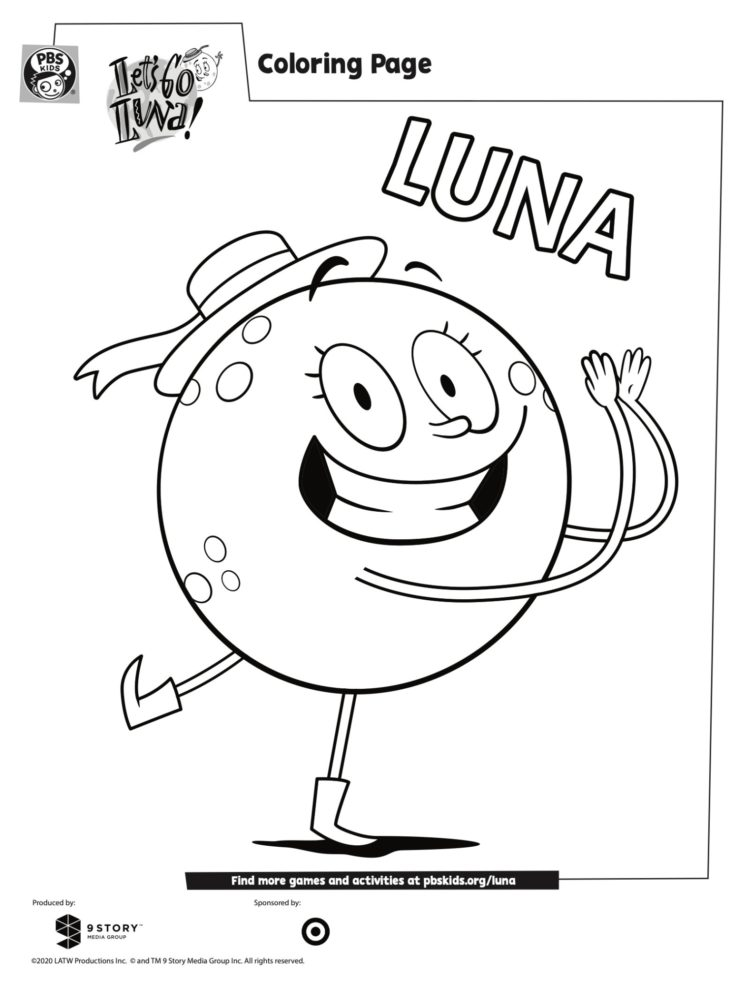 Luna Coloring Page Kids Coloring Pages Pbs Kids For Parents