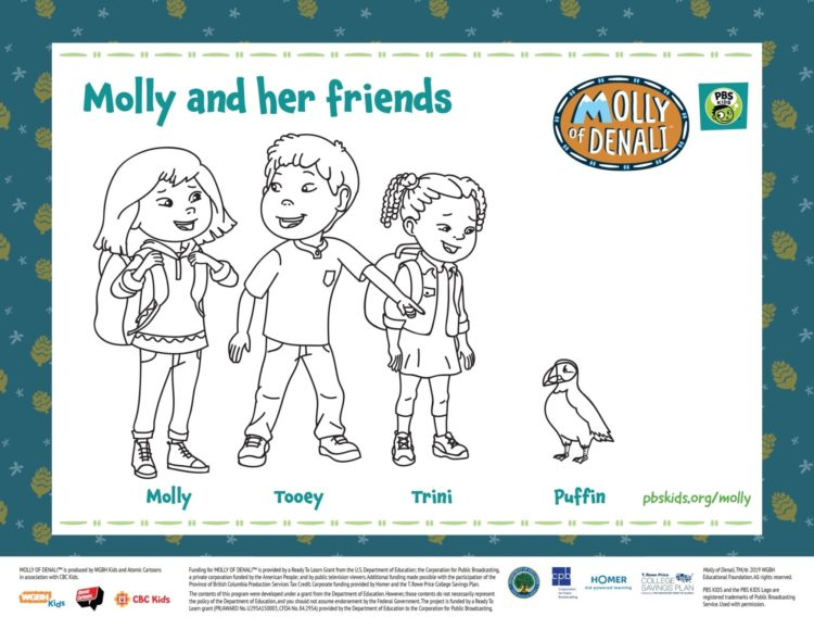 Molly And Friends Coloring Page Kids Coloring Pbs Kids