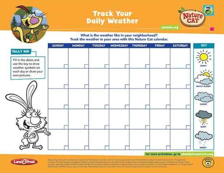 Track Your Daily Weather | Kids Coloring Pages | PBS KIDS for Parents