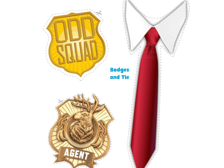graphic about Odd Squad Badge Printable referred to as Bizarre Squad Photograph Props Children Coloring Web pages PBS Little ones for