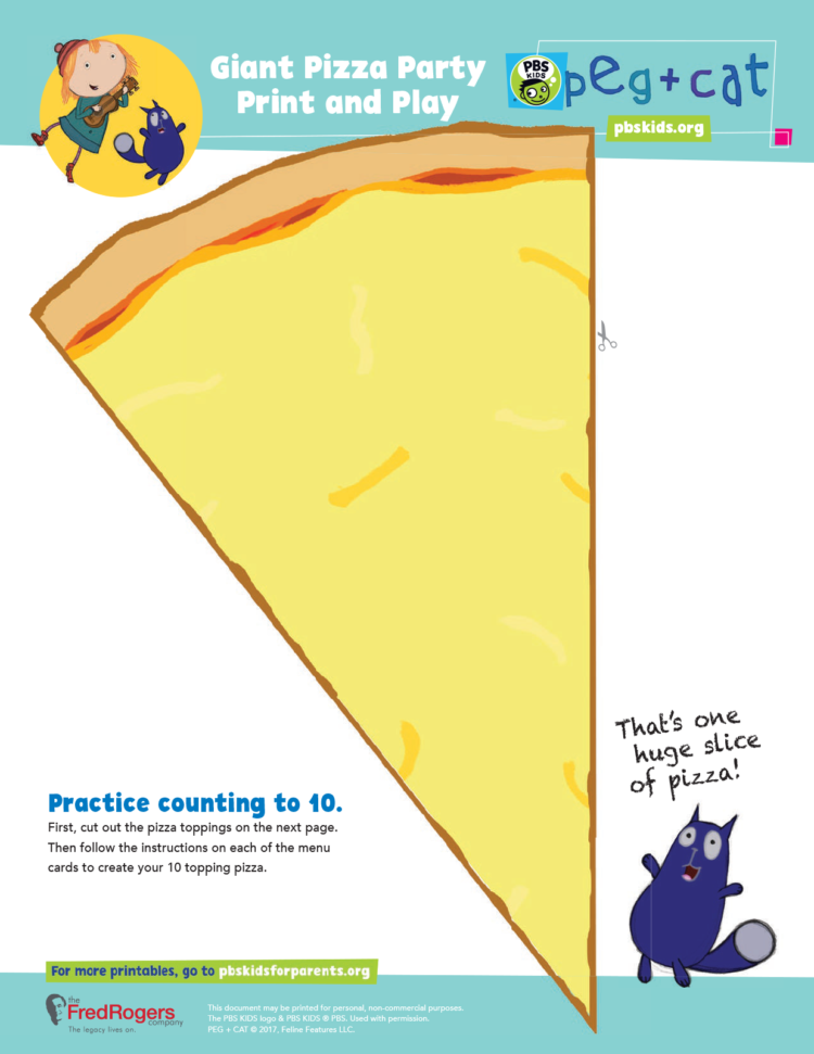 graphic regarding Printable Pizza Toppings named Large Pizza Bash Print and Engage in Young children PBS Young children for Moms and dads