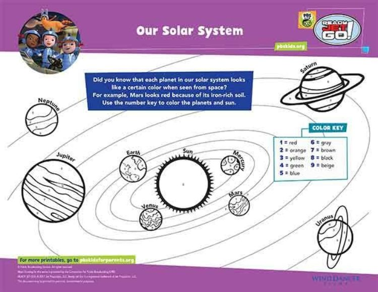 Our Solar System Kids Coloring Pages PBS KIDS For Parents