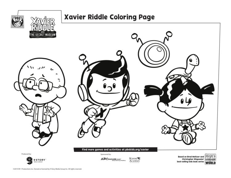 Xavier And Friends Coloring Page Kids