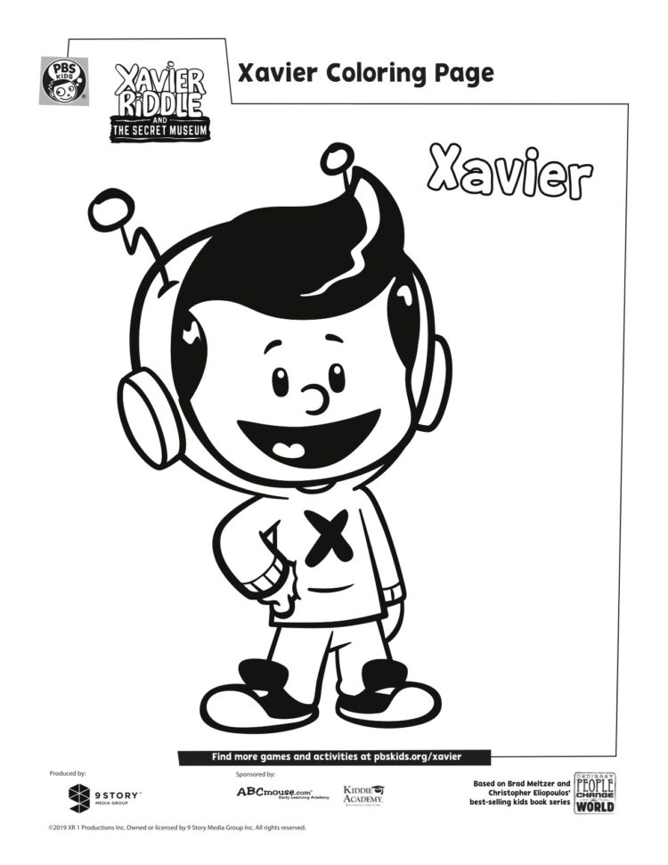Xavier Coloring Page Kids