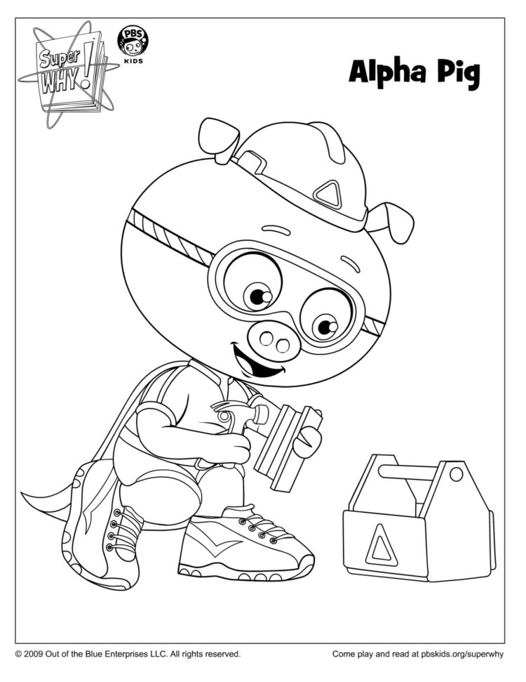 Alpha Pig Coloring Page Kids Coloring Pages Pbs Kids For Parents