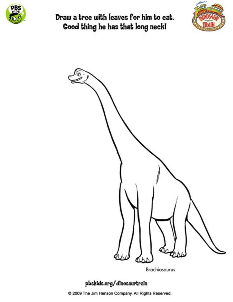 brachiosaurus coloring page kids coloring pbs kids for parents brachiosaurus coloring page kids
