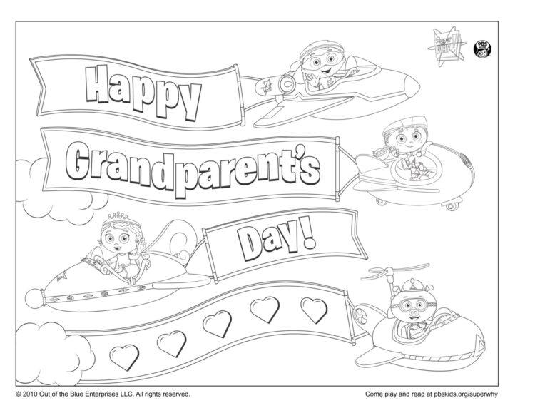 Super Grandparents Coloring Page Kids Pbs Kids For Parents
