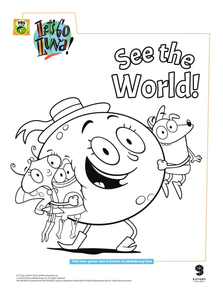Luna And Friends Coloring Page Kids