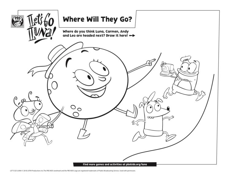 Where Will They Go Coloring Page