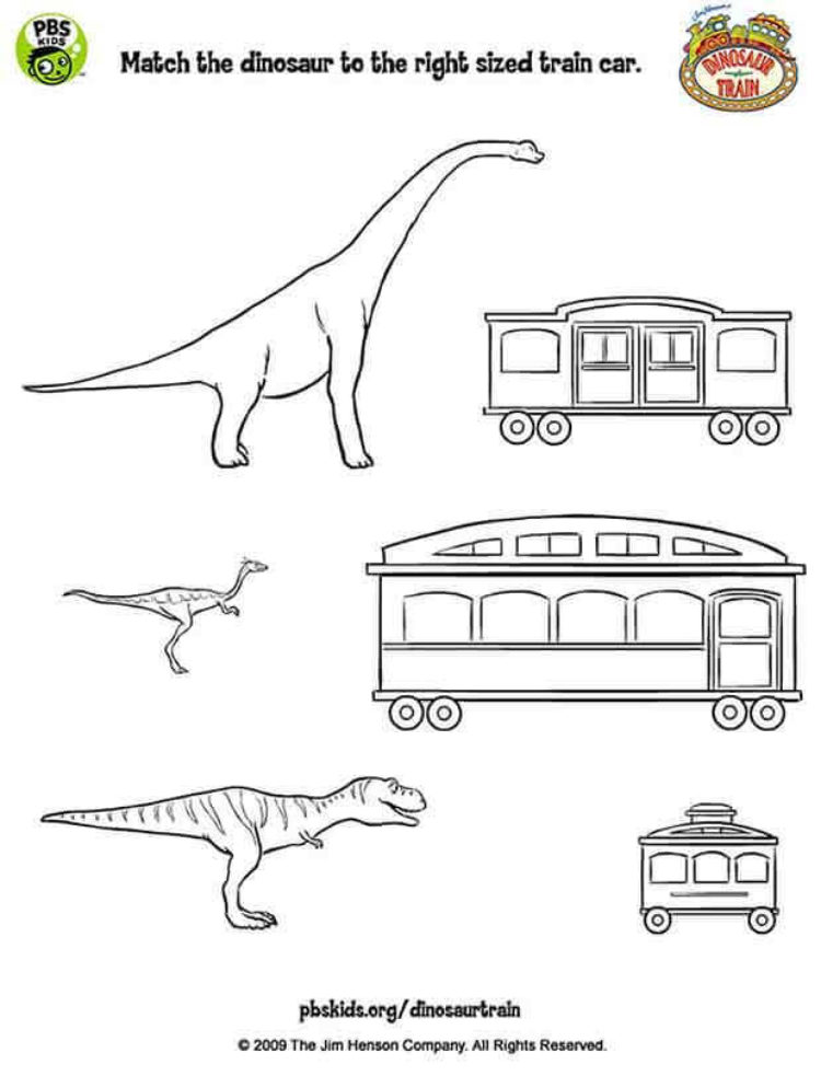 Match Up Dinosaur Kids Coloring Pages Pbs Kids For Parents