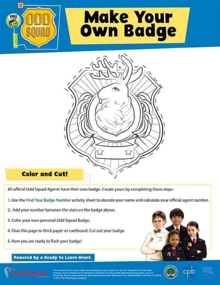 Make Your Own Badge | Kids Coloring Pages | PBS KIDS for Parents