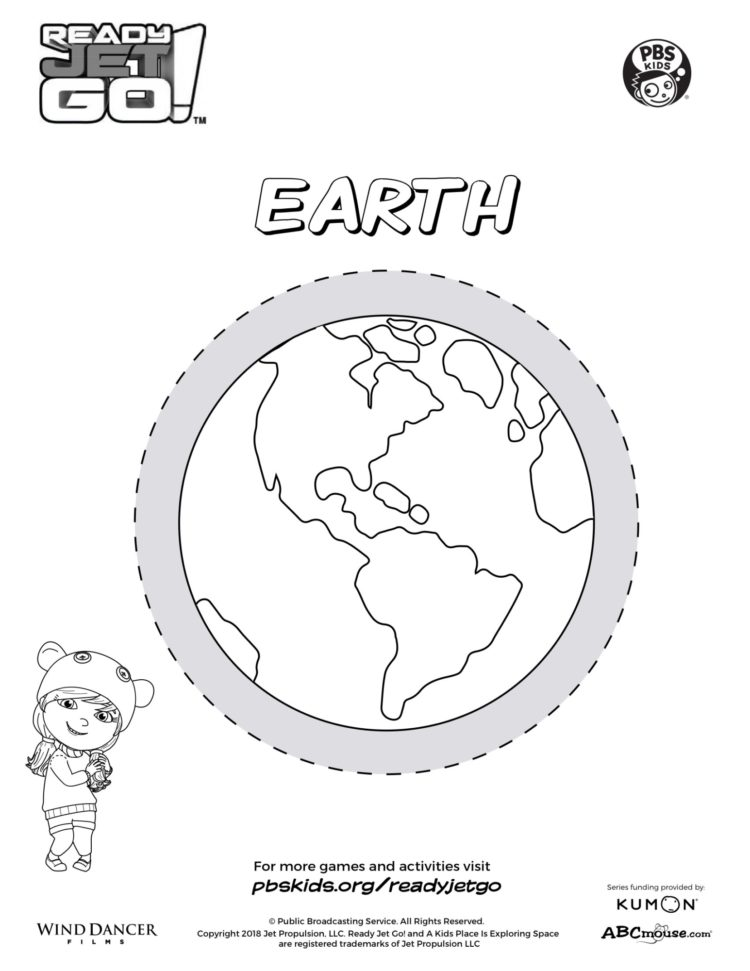 Planet Earth Coloring Page | Kids Coloring… | PBS KIDS for ...