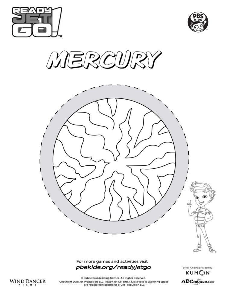Mercury Coloring Page - Twisty Noodle | 971x750
