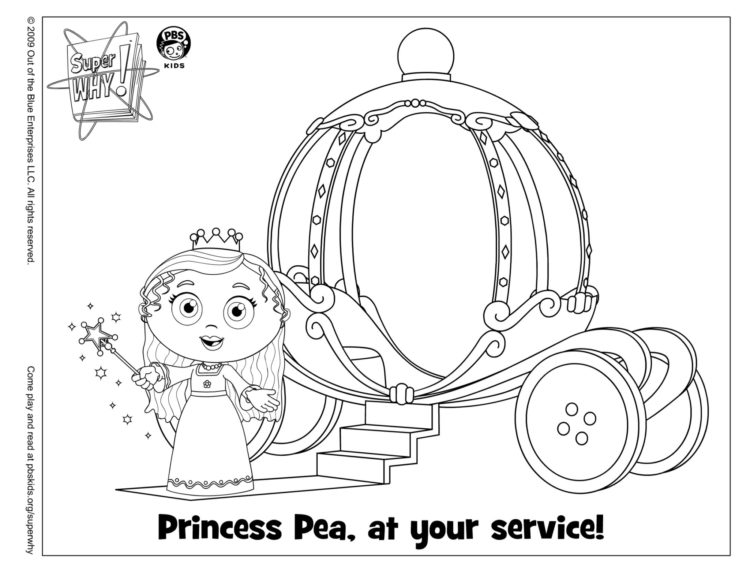 - Princess Pea Coloring Page Kids Coloring… PBS KIDS For Parents