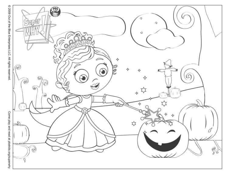 Princess Presto's Halloween Coloring Page |… PBS KIDS For Parents
