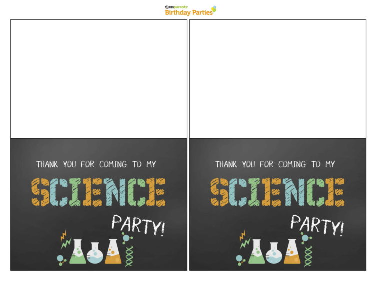 4x6 inch Birthday Party Printable Thank You Notes Science Theme Science Party Thank You Cards INSTANT DOWNLOAD with EDITABLE text