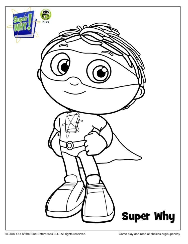 Super Why! Costume Coloring Page | Kids… | PBS KIDS for Parents