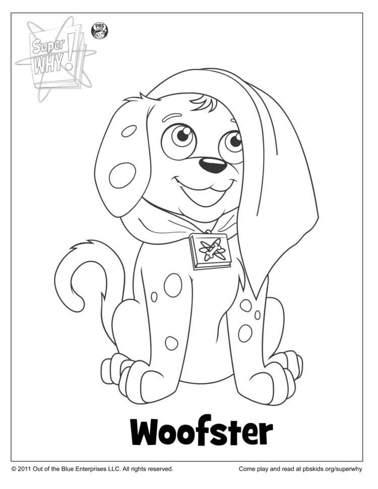Woof Woof Coloring Page Kids Coloring Pages Pbs Kids For