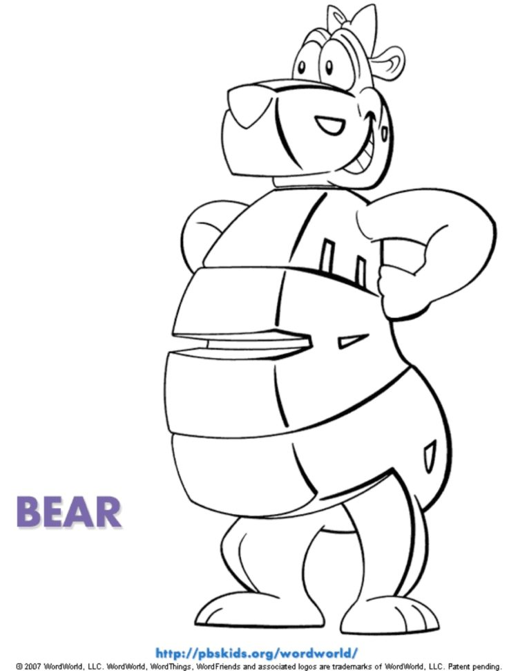 Bear Coloring Page Kids Coloring Pages Pbs Kids For Parents