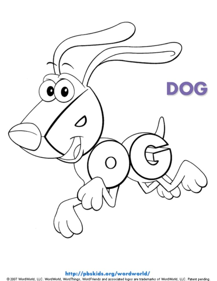 Dog Coloring Page Kids Coloring Pages Pbs Kids For Parents
