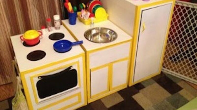 Create A Cardboard Kitchen Crafts For Kids Pbs Kids For Parents