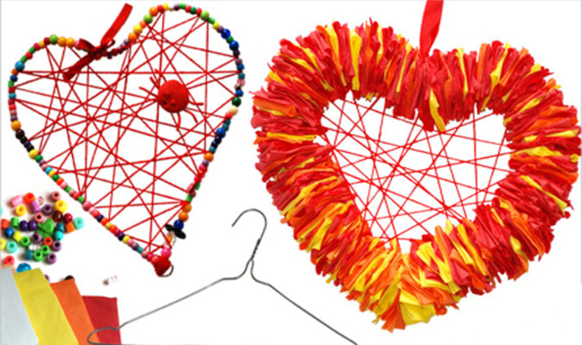 Hanger Heart Wreaths Crafts For Kids Pbs Pas