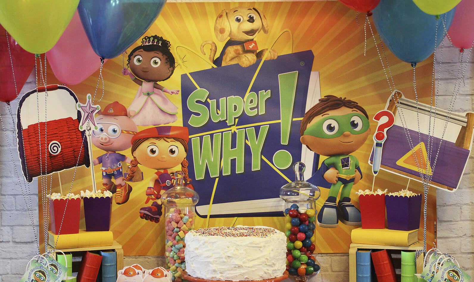 Outstanding Super Why Birthday Party Birthday Party For Pbs Kids For Parents Funny Birthday Cards Online Elaedamsfinfo