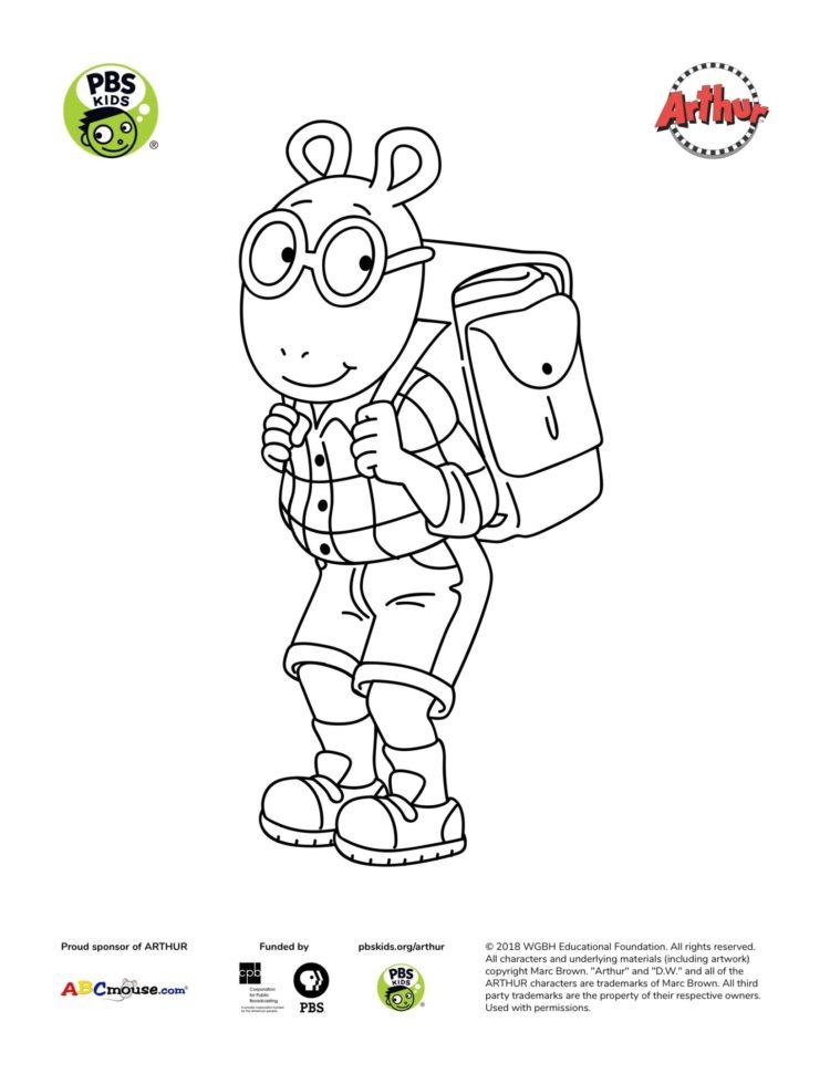 Arthur Coloring Page Kids