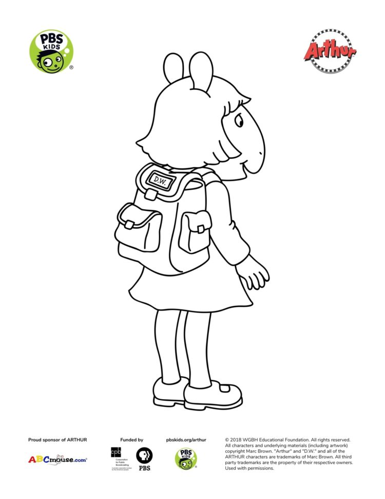 - D.W. Coloring Page Kids Coloring Pages PBS KIDS For Parents