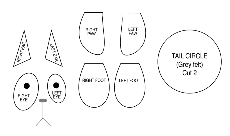 image about Printable Cat Ears identified as Cat Ears Diagram - Schematics On-line