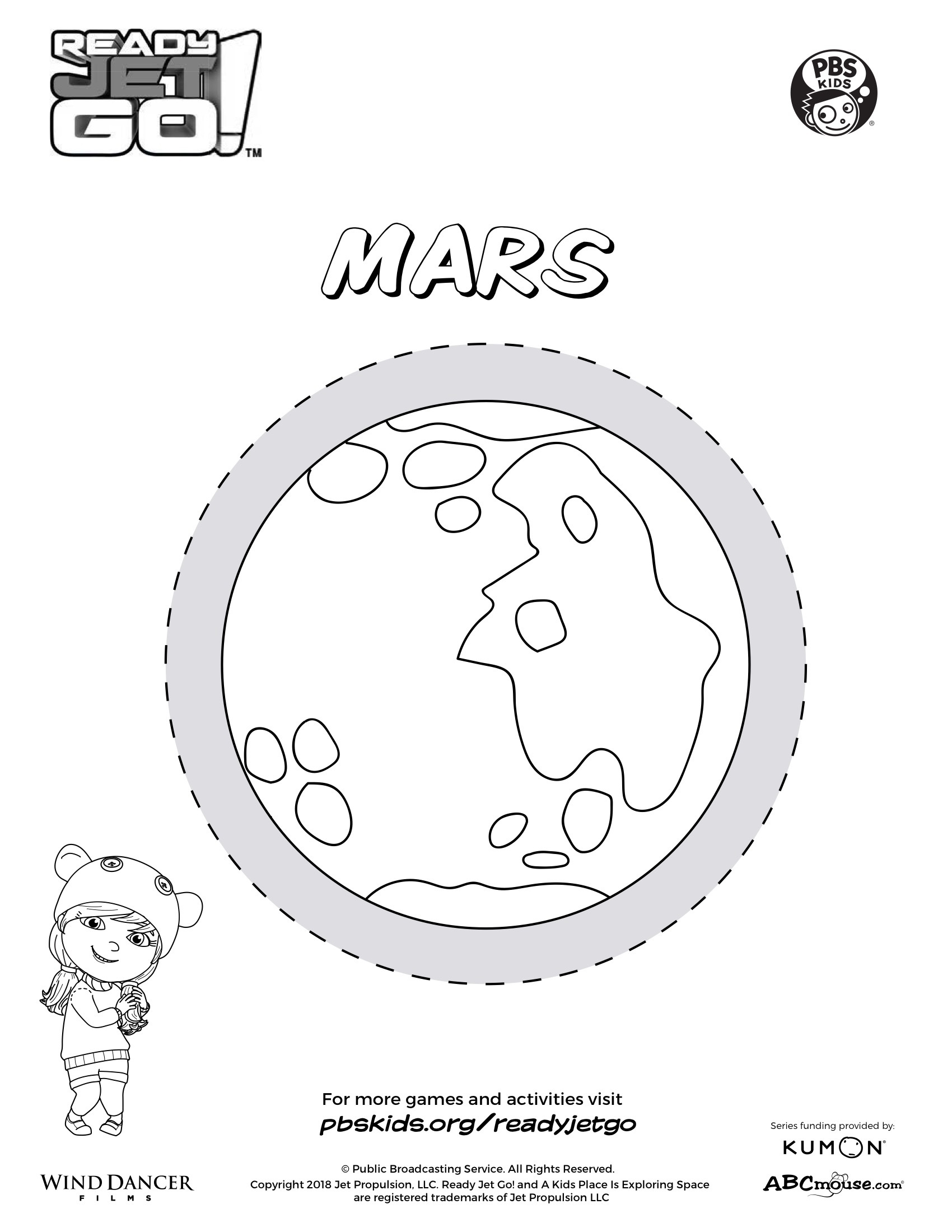 Planet Mars Coloring Page | Kids Coloring Pages | PBS KIDS for Parents